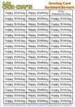 5 X Sheets Of 50 x Happy Birthday Sentiment Banners - U Cut - UKCC0251